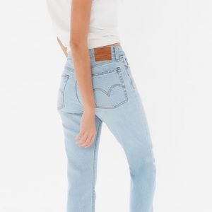 Levi's high waisted wedgie jeans